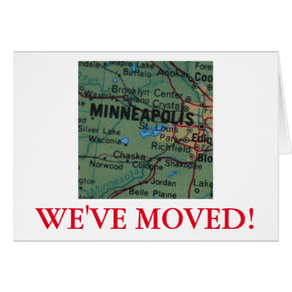 Minneapolis  We've Moved address announcement