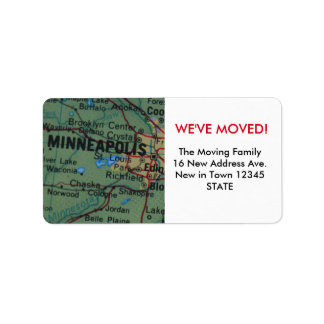 Minneapolis We've Moved label
