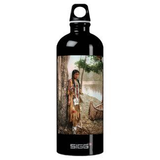 Minnehaha 1897 Native American Hiawatha Vintage Aluminum Water Bottle