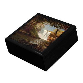Minnehaha Falls, an Albert Bierstadt artwork Jewelry Box