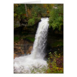 Minnehaha Falls in autumn Greeting Card