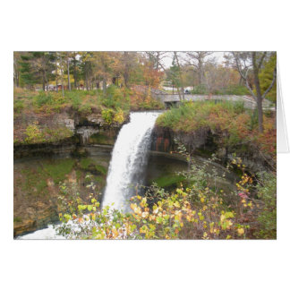 Minnehaha Falls in Minneapolis, Minnesota Card
