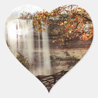 Minnehaha Falls, Minneapolis, Minnesota Circa 1900 Heart Sticker