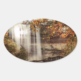 Minnehaha Falls, Minneapolis, Minnesota Circa 1900 Oval Sticker