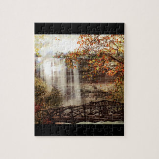 Minnehaha Falls Minneapolis Minnesota Circa 1900 Jigsaw Puzzles