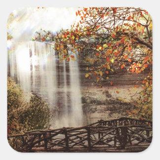 Minnehaha Falls, Minneapolis, Minnesota Circa 1900 Square Sticker
