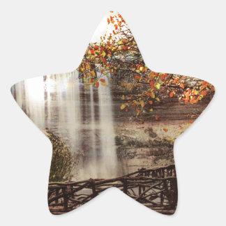 Minnehaha Falls, Minneapolis, Minnesota Circa 1900 Star Sticker