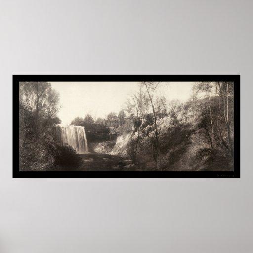 Minnehaha Falls MN Photo 1906 Posters