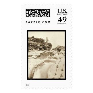 Minnekahta Falls near Hot Springs SD 1889 Postage