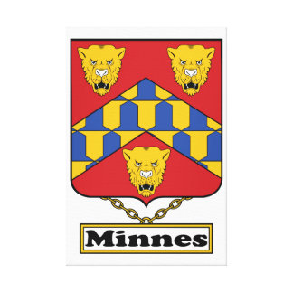 Minnes Family Crest Gallery Wrapped Canvas