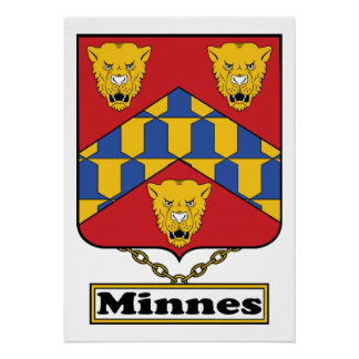 Minnes Family Crest Posters