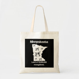 Minneskeeta Land of Mosquitoes Funny MN Tote Bag
