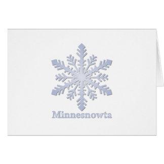 Minnesnowta Blue Snowflake Card