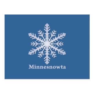 Minnesnowta Blue Snowflake Postcard