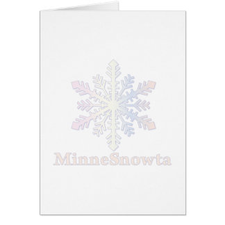 MinneSnowta con el copo de nieve Tarjeta De Felicitación