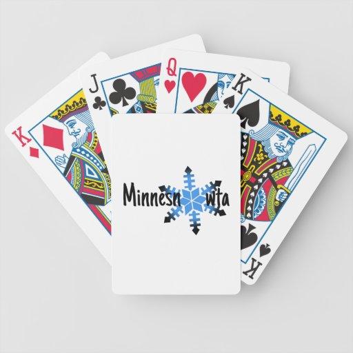 Minnesnowta divertido barajas de cartas