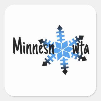 Minnesnowta Funny Square Sticker