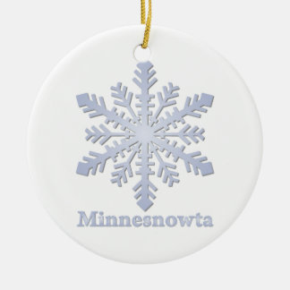 Minnesnowta Snowflake Ceramic Ornament