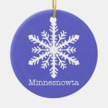 Minnesnowta Snowflake Christmas Ornaments