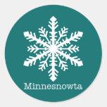Minnesnowta Snowflake Classic Round Sticker