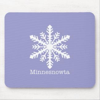 Minnesnowta Snowflake Mouse Pads