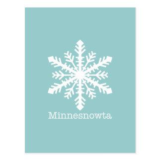 Minnesnowta Snowflake Postcard