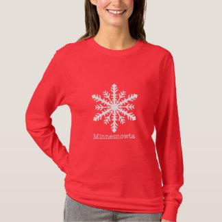 Minnesnowta Snowflake T-Shirt