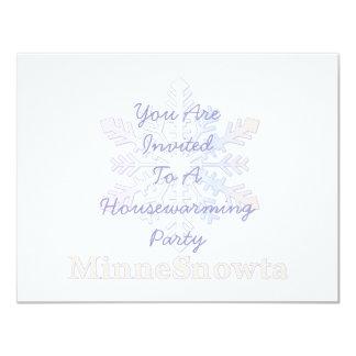 MinneSnowta with Snowflake Card