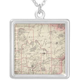 Minnesota 2 square pendant necklace