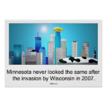 Minnesota after invasion by Wisconsin ;) Print