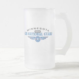 Minnesota Air National Guard Frosted Glass Beer Mug