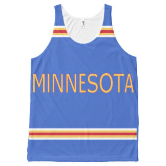 Minnesota All-Over Printed Unisex Tank All-Over Print Tank Top