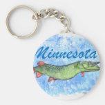 Minnesota almizclado llavero redondo tipo pin