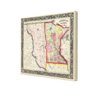 Minnesota, And Dacotah Gallery Wrapped Canvas