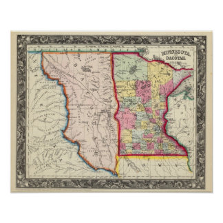 Minnesota, And Dacotah Posters