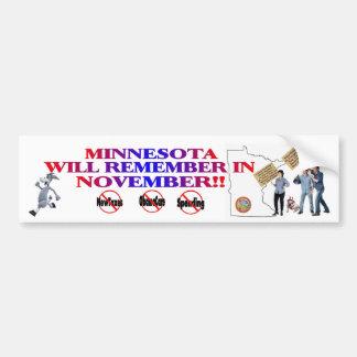 Minnesota - Anti ObamaCare, New Taxes & Spending Bumper Sticker