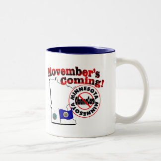 Minnesota Anti ObamaCare – November's Coming! Two-Tone Coffee Mug