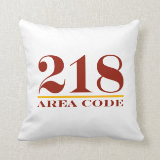 Minnesota Area Code 218 Throw Pillow