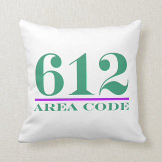 Minnesota Area Code 612 Throw Pillow