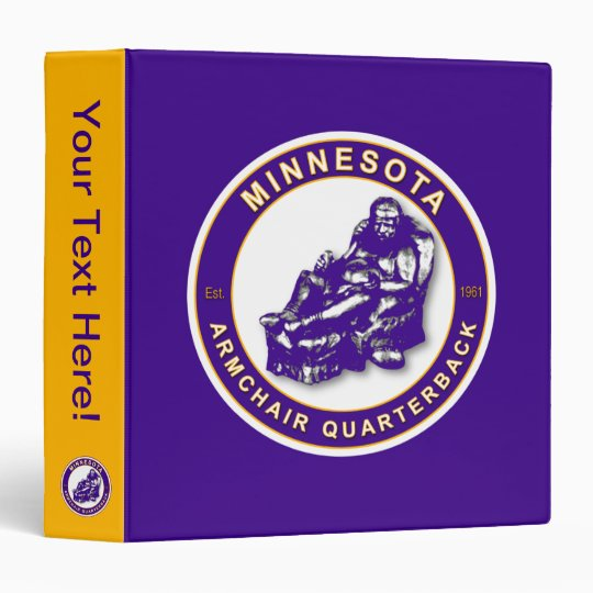Minnesota Armchair Quarterback Football Binder