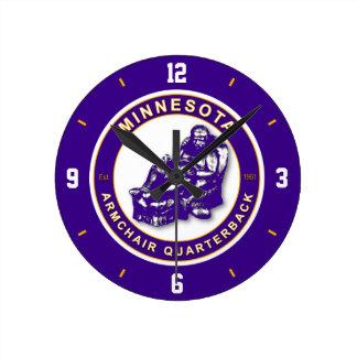 Minnesota Armchair Quarterback Wall Clock