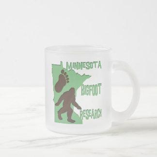 Minnesota Bigfoot Research Frosted Glass Coffee Mug