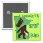 Minnesota Bigfoot Research Pinback Buttons