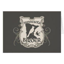 Greeting Card with Minnesota Birder design