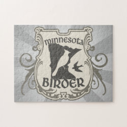 10x14 Photo Puzzle with Minnesota Birder design