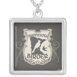 Necklace with Minnesota Birder design