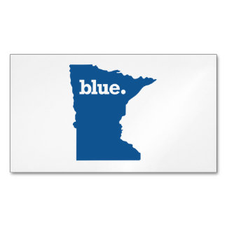MINNESOTA BLUE STATE BUSINESS CARD MAGNET