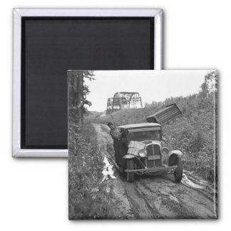 Minnesota Blueberry Pickers, 1937 2 Inch Square Magnet