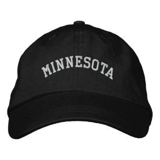 Minnesota bordó negro ajustable del casquillo gorras bordadas