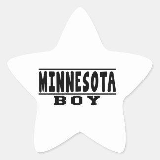 Minnesota Boy Designs Star Sticker
